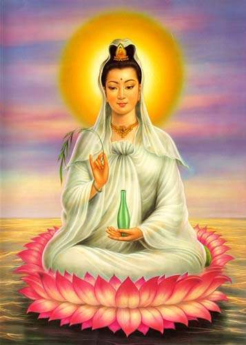 Kuan Yin is the bodhisattva of compassion.